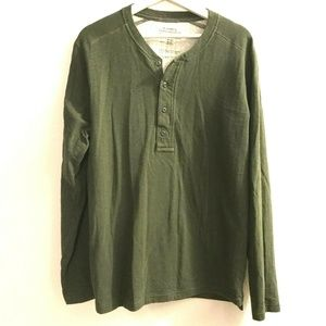 REI Cooperative Size Large Henley Shirt Cotton